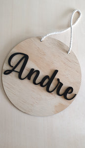 Personalised Acrylic and Wood Door Sign