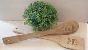 Wooden Spoon Set 2 piece Engraved