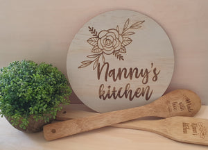 Nanny's Kitchen Wall Plaque