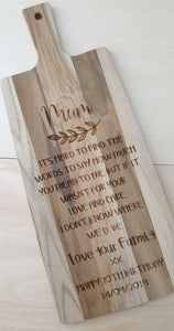Personalised Teak Wood Chopping Boards