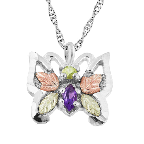 25096IA-GS BUTTERFLY PEND - Berg Jewelry & Gifts