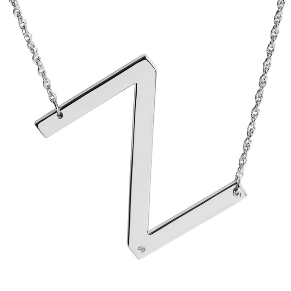 SS DIA 'Z' INITIAL NECKLACE