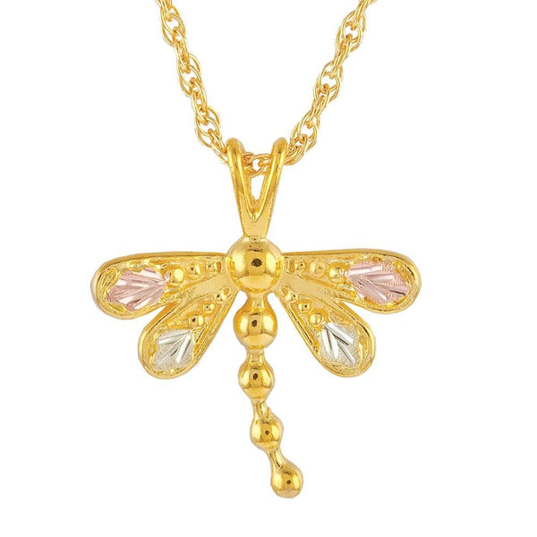 Black Hills Gold Pendant G20086 BHG DRAGONFLY PEND - Berg Jewelry & Gifts