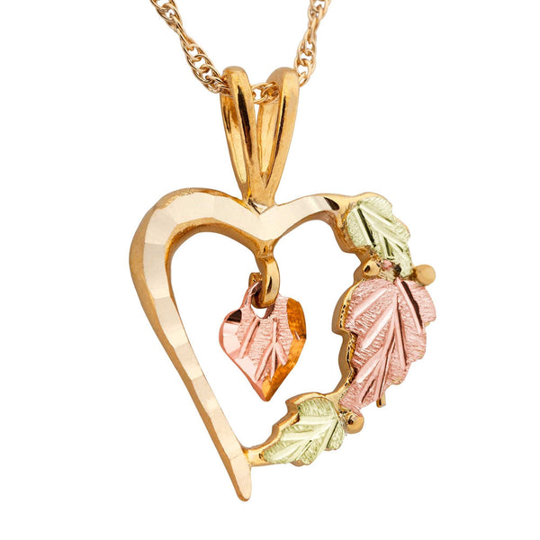 Black Hills Gold Pendant G2077 MTR BHG HEART PEND - Berg Jewelry & Gifts