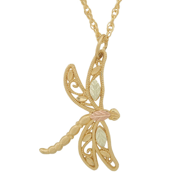 Black Hills Gold Pendant GC25700 BHG DRAGONFLY PEND - Berg Jewelry & Gifts