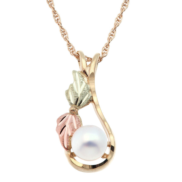 Black Hills Gold Pendant GSD20252P (80895) PEARL PEND - Berg Jewelry & Gifts