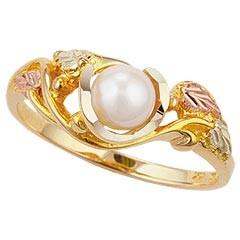 Black Hills Gold Ring G1603P MTR L BHG PEARL RING - Berg Jewelry & Gifts