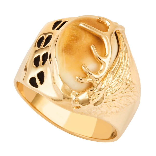 DXI1788 M 10KT ELK IVORY RING - Berg Jewelry & Gifts