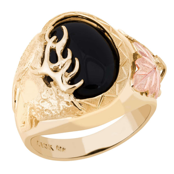 G L02869-501 Black Hills Gold Mens Ring - Berg Jewelry & Gifts