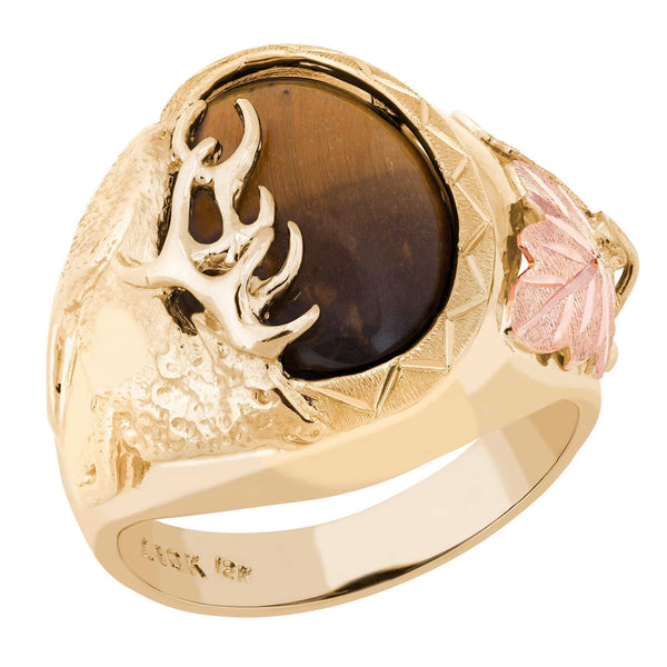 G L02869-505 Black Hills Gold Mens Ring - Berg Jewelry & Gifts