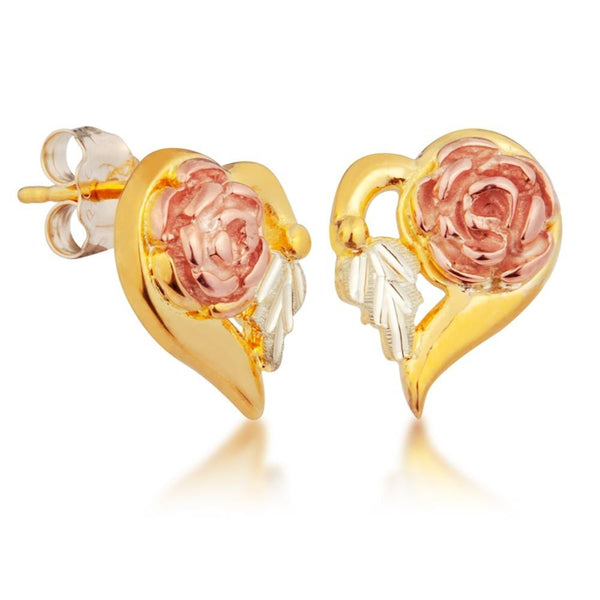 G30304 BHG ROSE HEART EARS - Berg Jewelry & Gifts