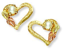 Black Hills Gold Earring, Brand: Landstrom's®, Design: Traditional, Metal: Gold, Type: Post,  Stone: Pearl,