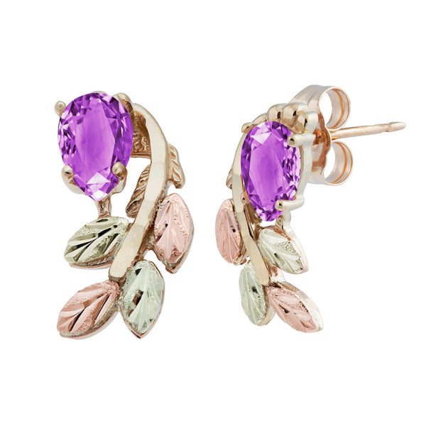 GC5966 BHG AMETHYST EARS - Berg Jewelry & Gifts