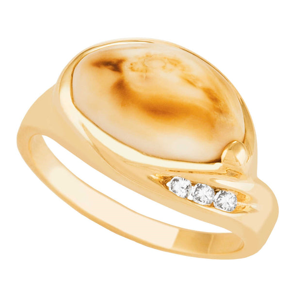I1777D L ELK IVORY RING .06TW - Berg Jewelry & Gifts