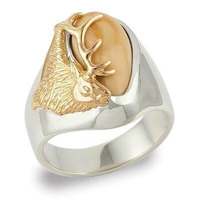 * IS1760 M ELK IVORY RING - Berg Jewelry & Gifts