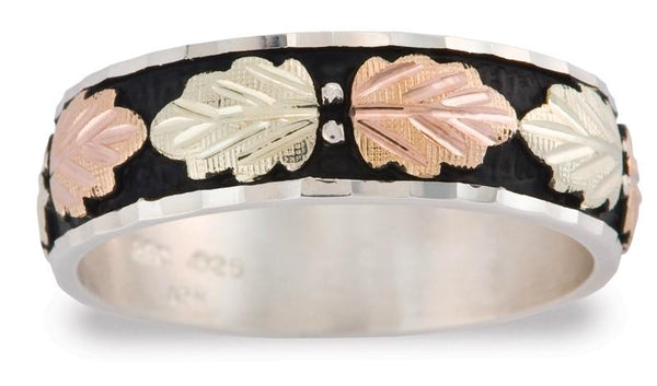 MR1301 MTR M ANTIQUED BAND - Berg Jewelry & Gifts