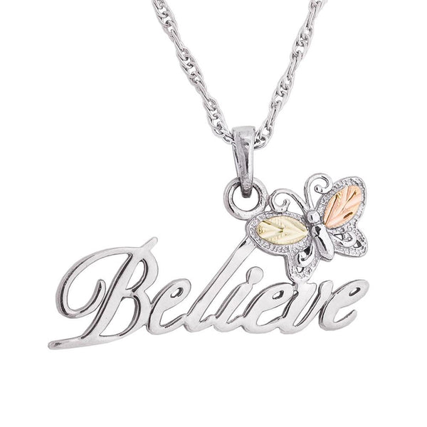MR20185 BELIEVE BUTTERFLY PEND - Berg Jewelry & Gifts