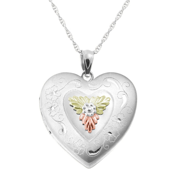 MR20324 SS/BHG LG HEART LOCKET - Berg Jewelry & Gifts