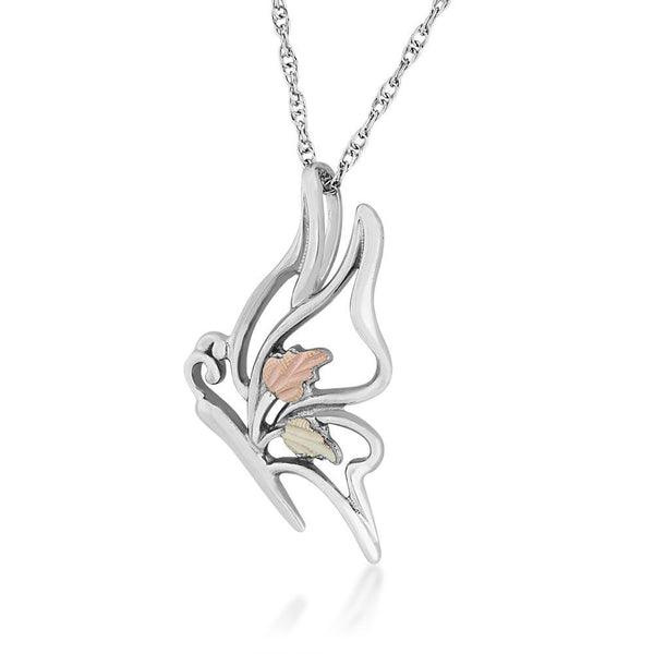 MR20502 G/S BUTTERFLY PEND - Berg Jewelry & Gifts