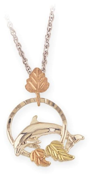 MR2319LD G/S DOLPHIN PEND - Berg Jewelry & Gifts