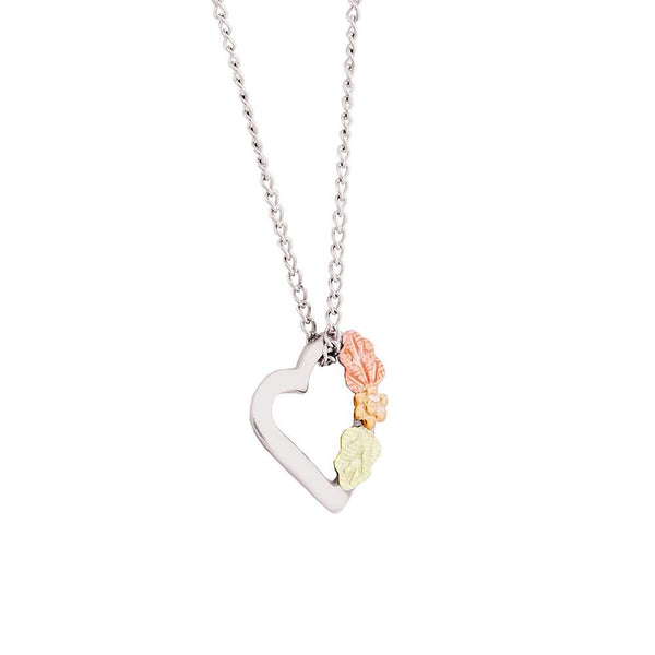MR298 SM FLOATING HEART PEND - Berg Jewelry & Gifts