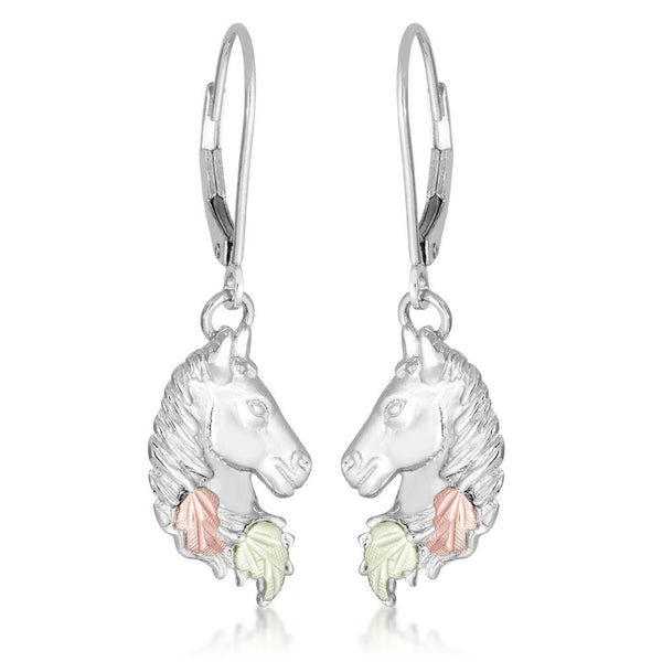 MR3706LR HORSEHEAD LVRBACK EAR - Berg Jewelry & Gifts