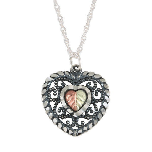 MRC25869-OX-GS HEART PEND - Berg Jewelry & Gifts