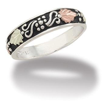 MRLMR2782 Black Hills Gold and Silver Ring - Berg Jewelry & Gifts