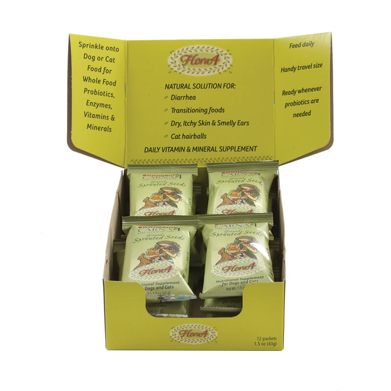 Carna4 - Flora4 Topper Singles Counter Top Display - 12oz