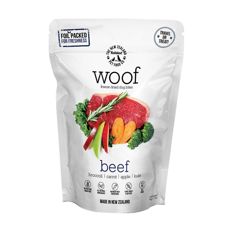 NZ Natural Pet Food Co - Freeze Dried - Treats - Woof -  Beef