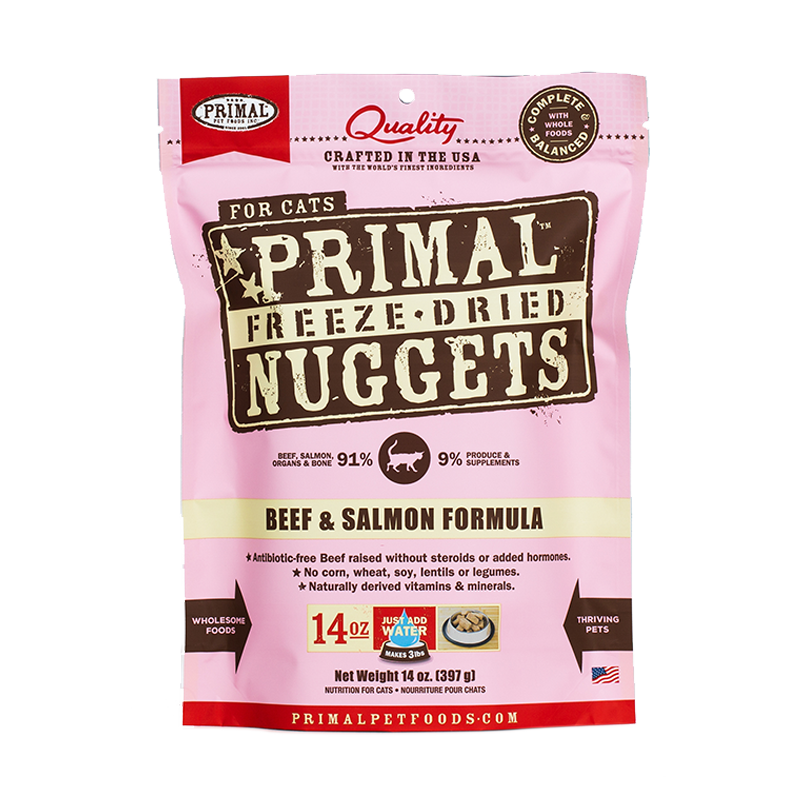 Primal - Feline - Freeze-Dried - Nuggets - Beef & Salmon