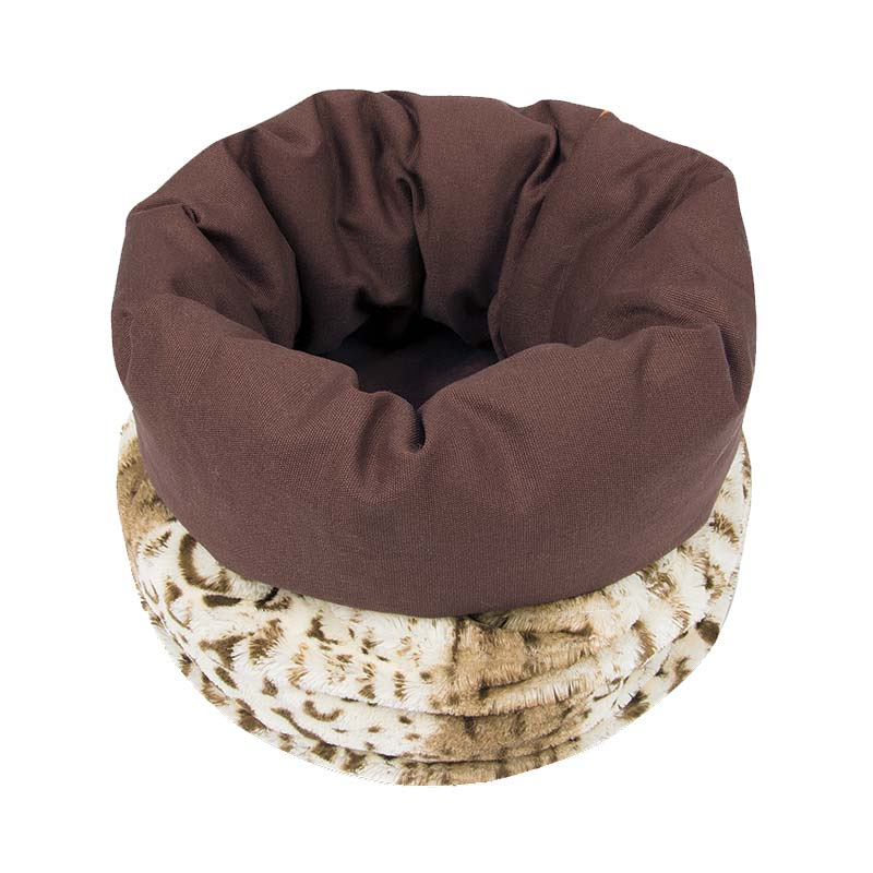 PLAY - Snuggle Bed - Leopard Brown