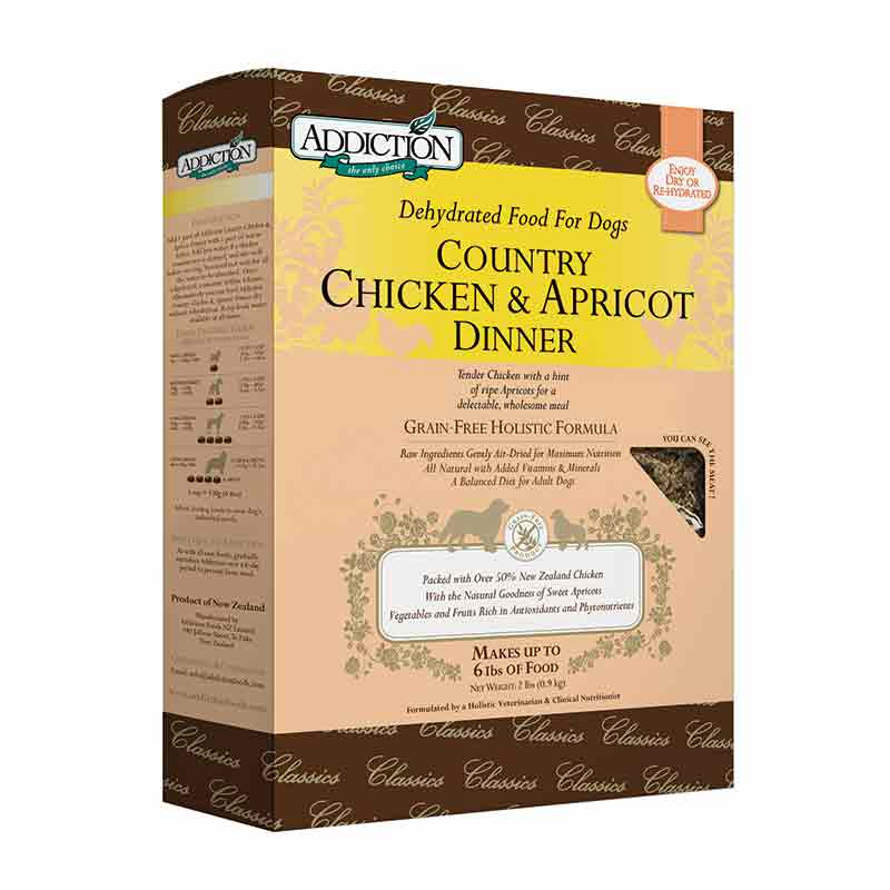 Addiction - Dehydrated - Canine - Canine -Canine Country Chicken & Apricot Dinner