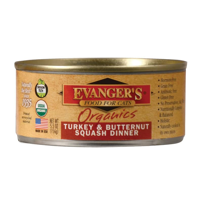 Evangers -Cat - Organic - Turkey with Butternut Squash - 5.5oz