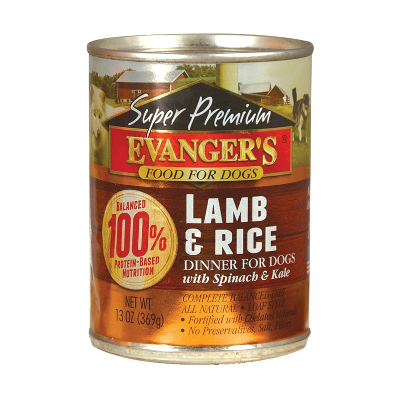 Evangers - Dog -Super Premium - Lamb & Rice Dinner- 13oz