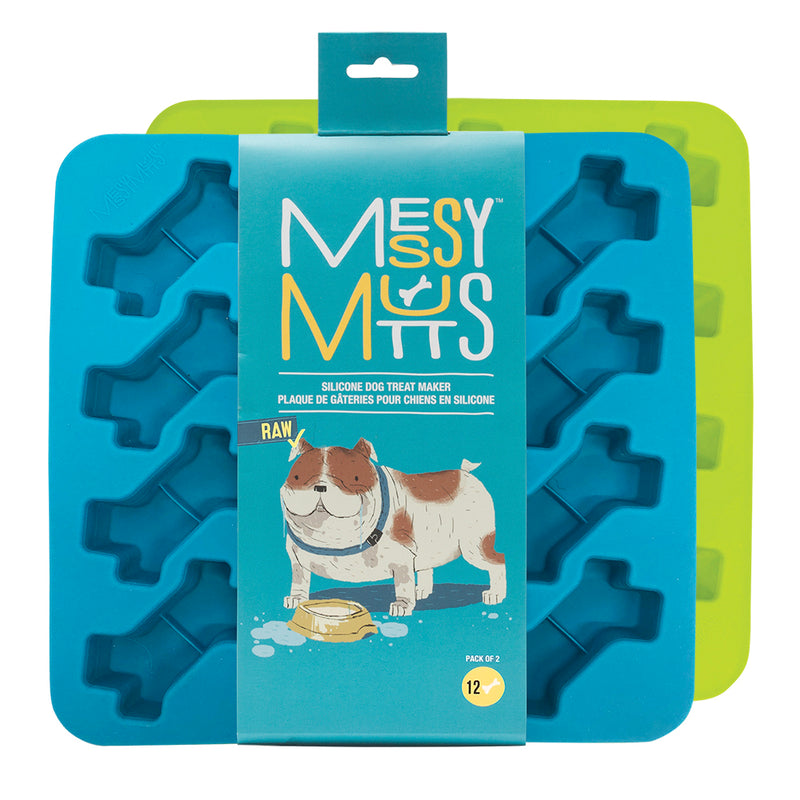 Messy Mutts - Silicone Bone - Treat Maker 2 pack