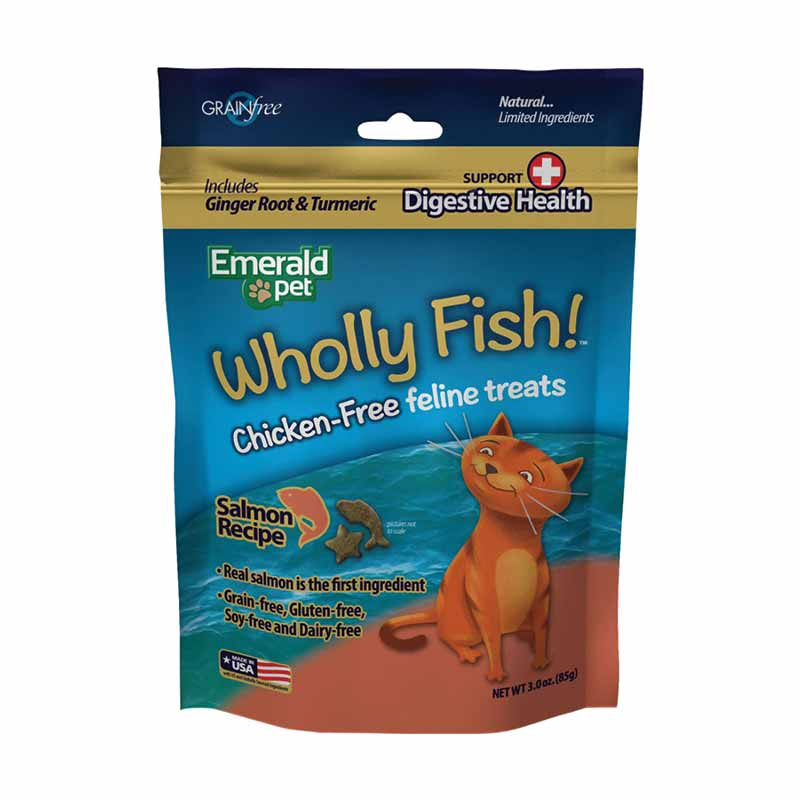 Emerald Pet - Cat -Wholly Fish Salmon + Digestive Health - 3 oz