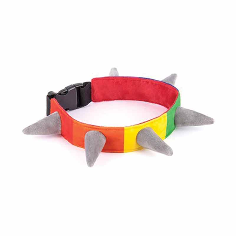 Spiked! Rainbow Collar - Small