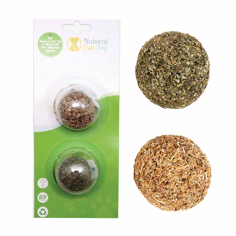 Natural Cat Toys - Catnip/Silver Vine Fitness Ball Combi
