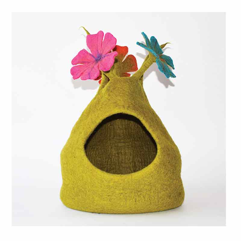 Dharma Dog Karma Cat - Cave - Bouquet - Green/Multi