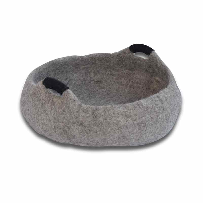 "Dharma Dog Karma Cat - Basket - 20"" Handles - Grey"