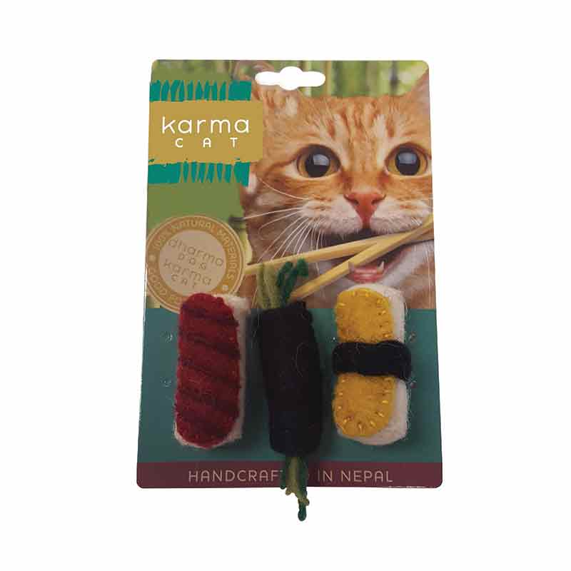 Dharma Dog Karma Cat - Toy - Sushi - 3 pk