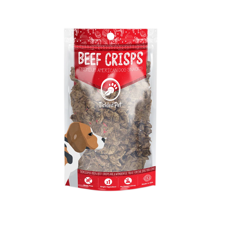 Tickled Pet - Natural USA Beef Lung Crisps - 8oz