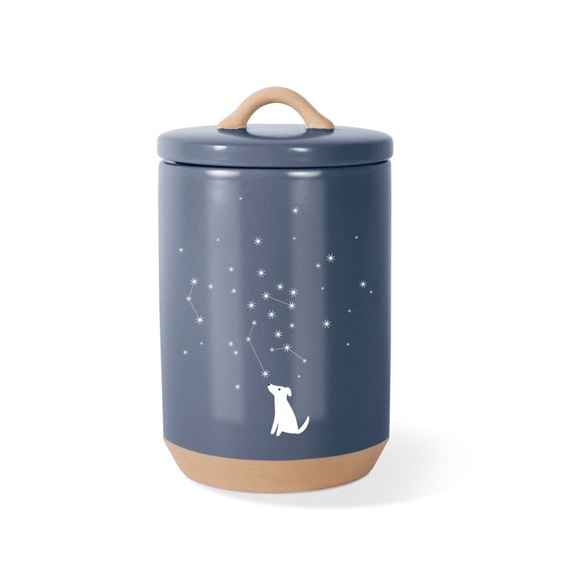 Fringe Studio - Celestial Dog Beveled Treat Jar