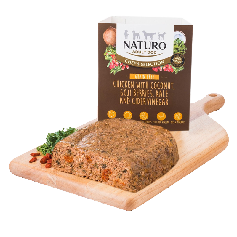 Naturo - Dog Trays - Chef's Selection Grain Free Chicken with Coconut (400g - Case of 7)