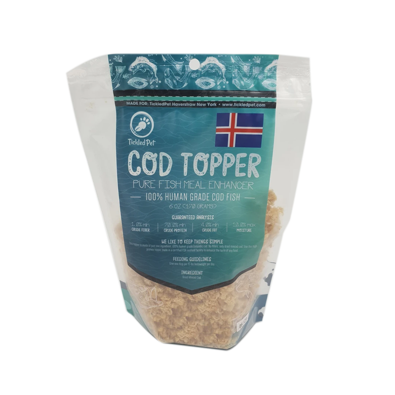 Tickled Pet - Cod Food Topper for Cats - 3oz