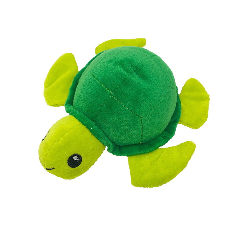 "Dogline - 6"" Turtle Mini Dog Toy"