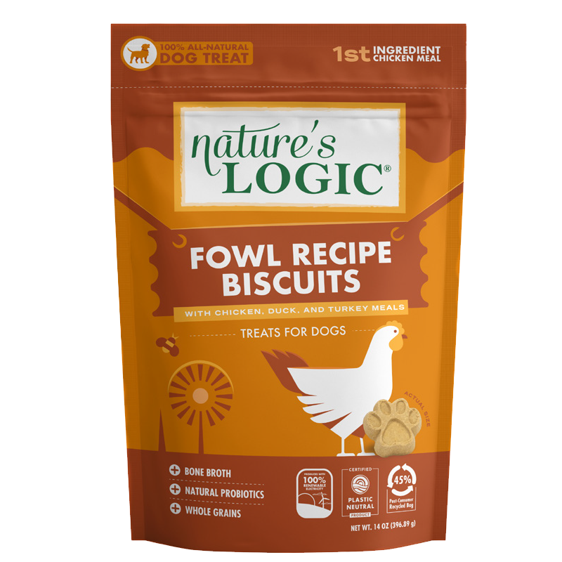 Nature's Logic - Biscuit Treats - Canine Fowl Blend