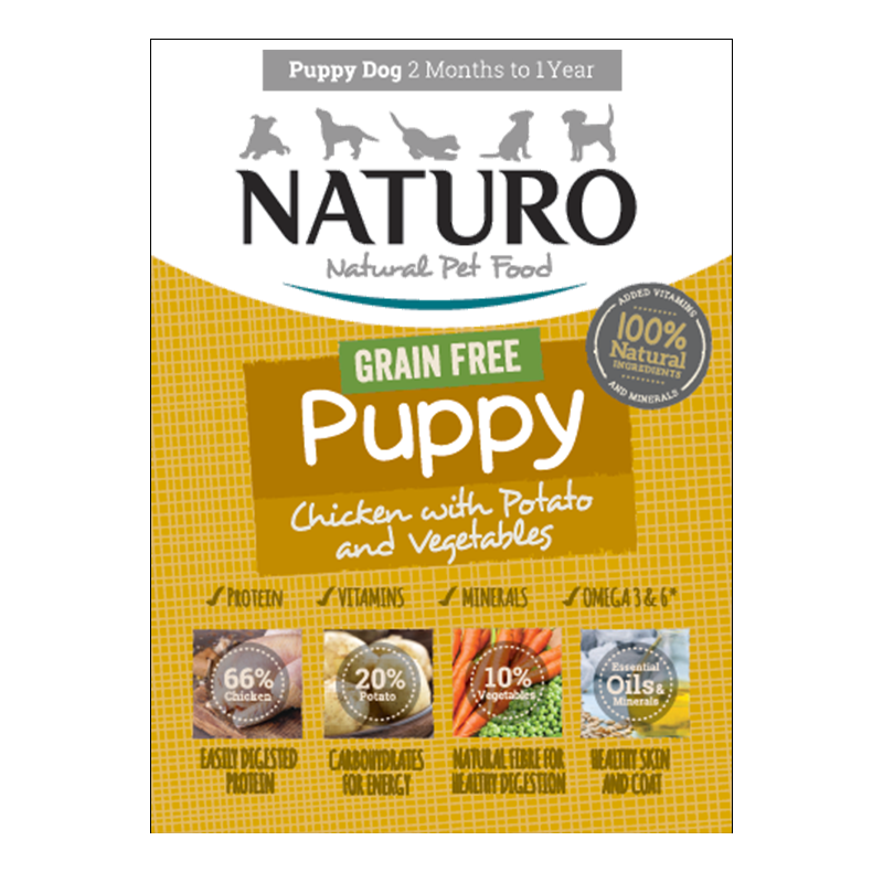 Naturo - Dog Trays - Puppy GF Chicken (150g - Case of 7)