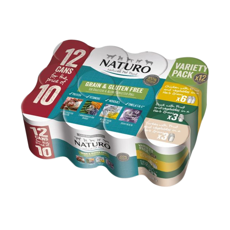 Naturo - Dog Cans - Grain Free Variety Pack 12pk